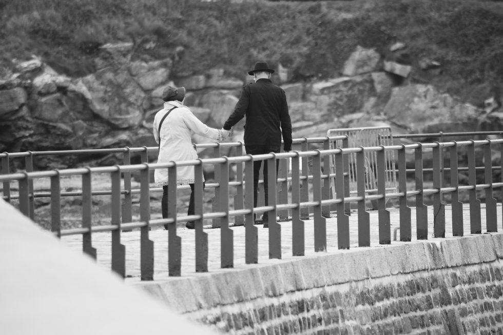 夫婦でお散歩